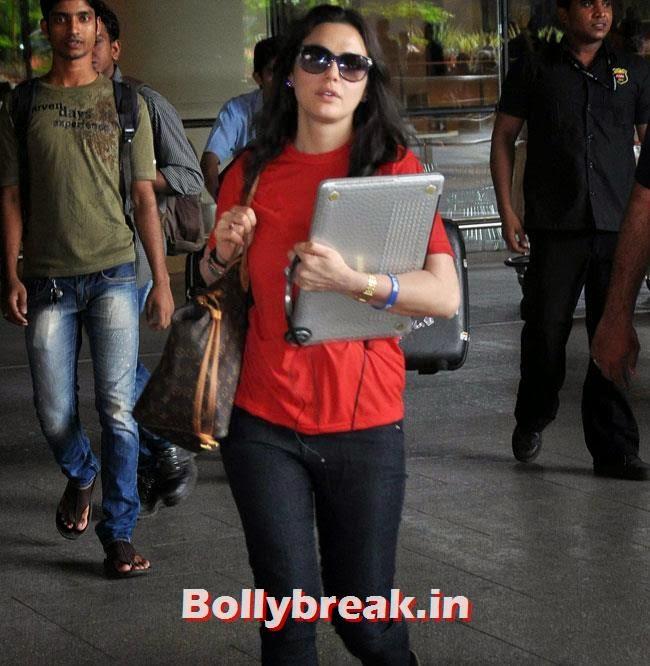 Preity Zinta, Elli, Deepika, Kangana Arrive Back From IIFA