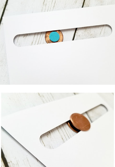 how to make a penny spinner card