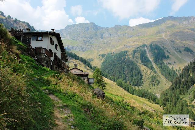 Aply Via Spluga Szlak z Isoli do Montespluga