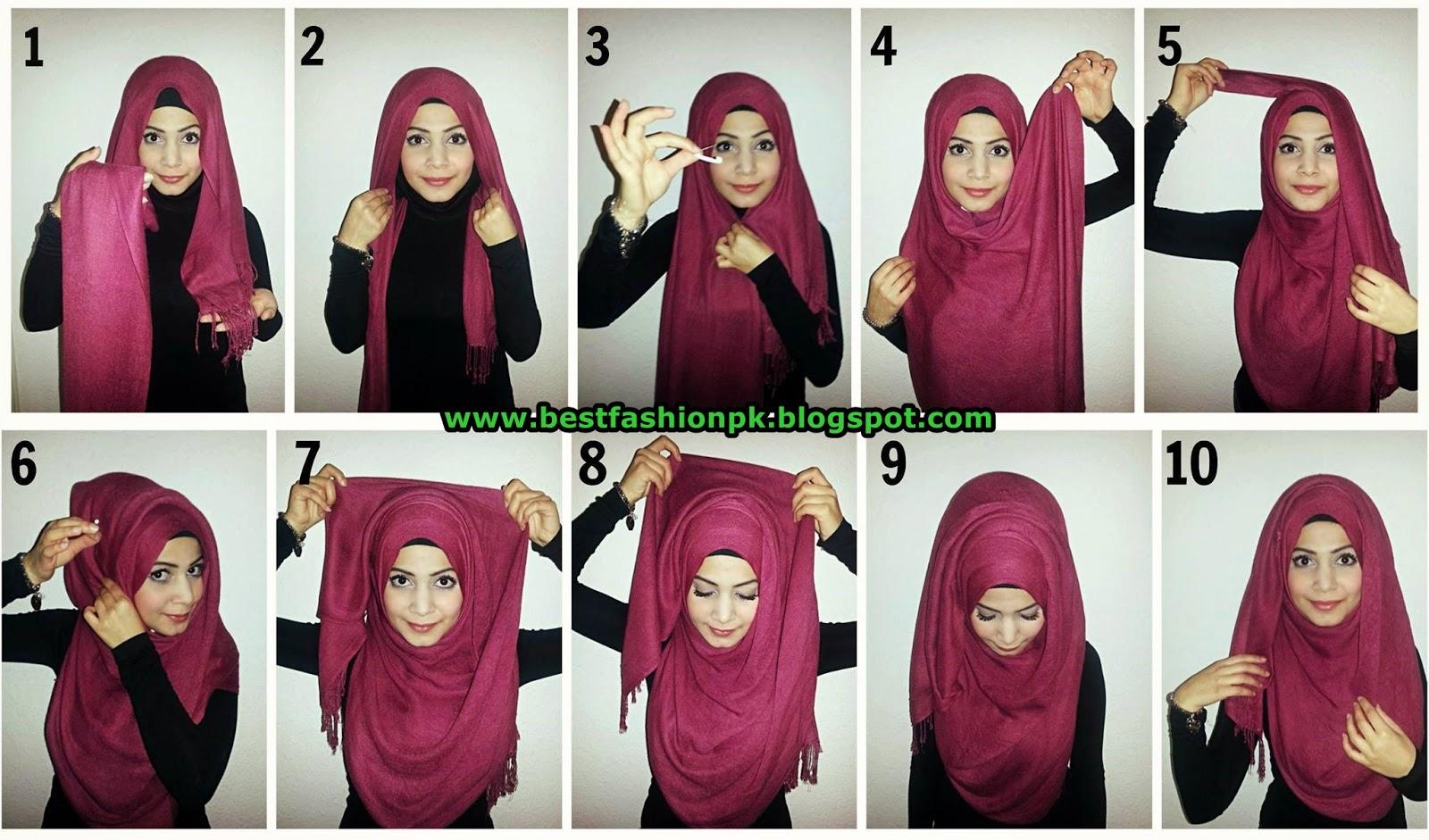 Modern and beautiful hijab styles tutorial fashion collections girls and women wear Fashion style hijab modern
