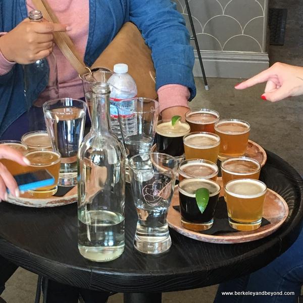 beer flights at Rose's Taproom in Oakland, California
