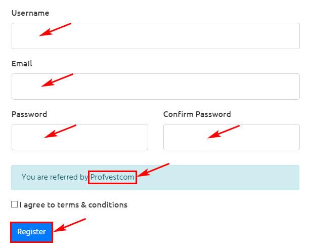 Регистрация в Vistabit 2