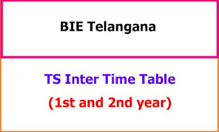 TS Inter Exam Time Table