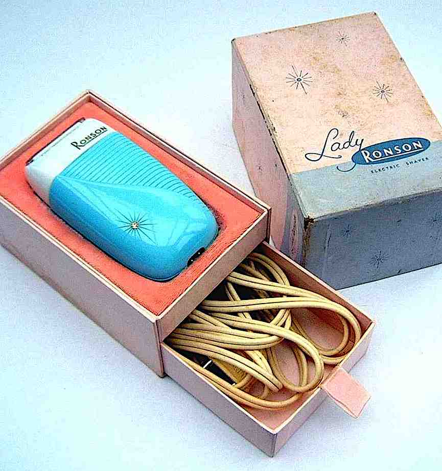 color photograph of a Lady Ronson electric shaver, 1950s or 1960s