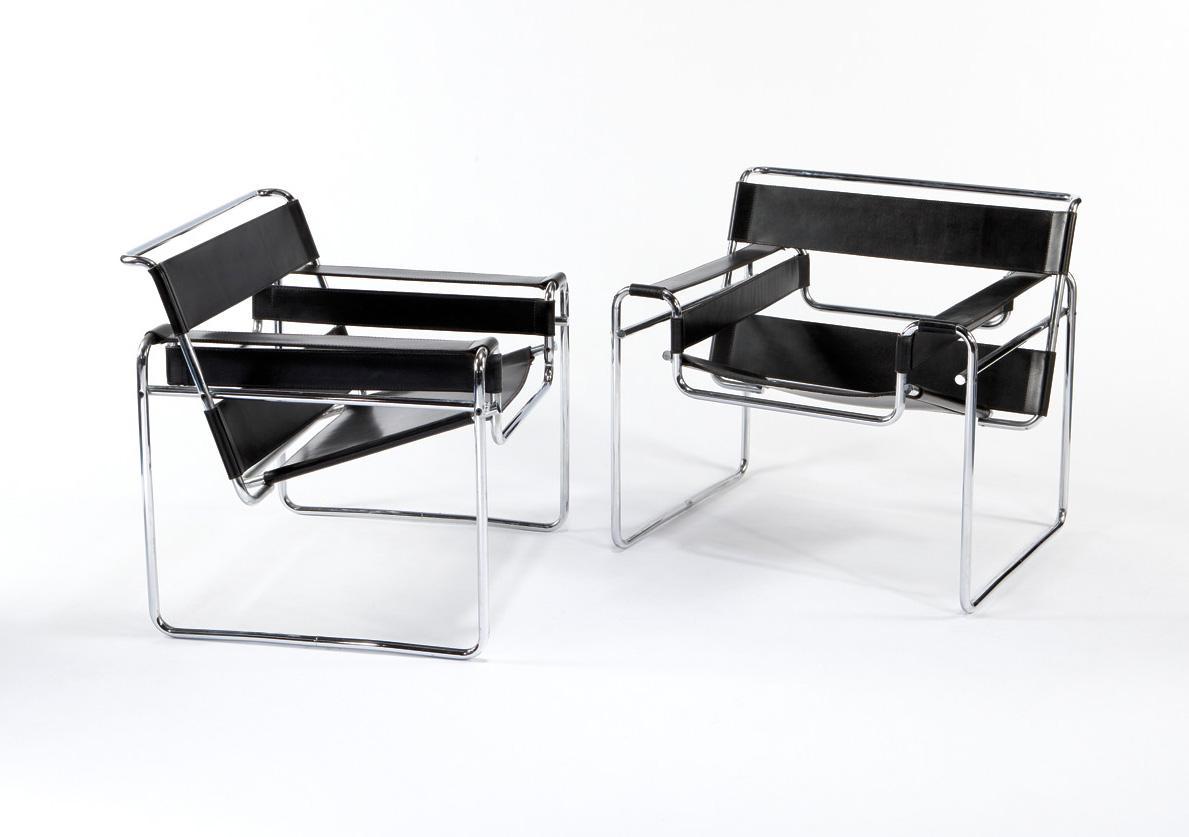 vizcayado silla wassily de marcel breuer. Black Bedroom Furniture Sets. Home Design Ideas