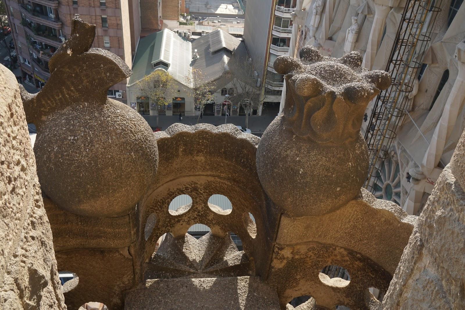サグラダ・ファミリア (Sagrada Familia) 塔の途中にあるテラス