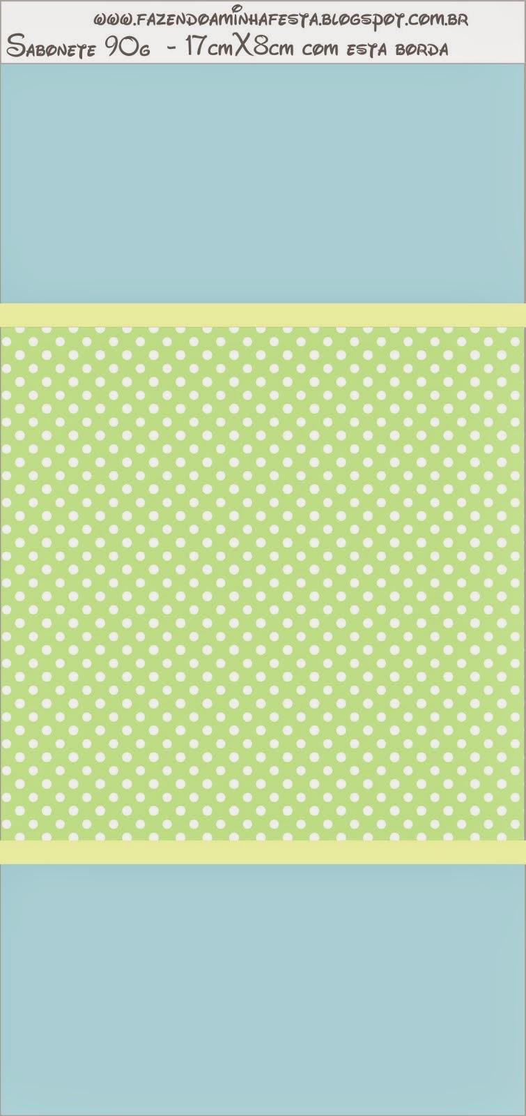 Etiquetas de Verde y Celeste para imprimir gratis.