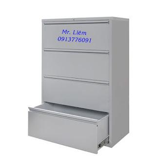 Tủ Hồ Sơ File Treo 4 Ngăn Kéo Ngang Godrej, Tủ sắt văn Phòng