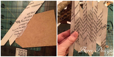 How to repurpose an old book and cereal box to make recycled book page gift tags.