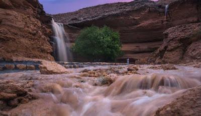 Air terjun bermunculan di Arab Saudi