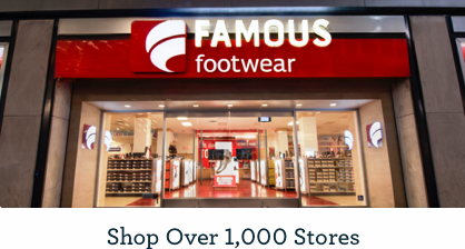 Get 15% off + Free Shipping at $75 with Famous Footwear