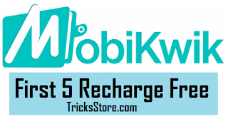 Mobikwik Free recharge offer go5 coupon