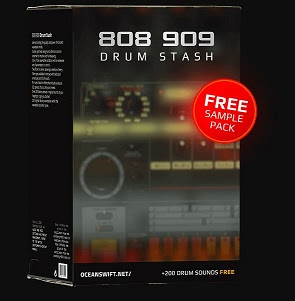 808 909 Drum Stash Free Sample Pack by Ocean Swift