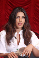 Priyanka Chopra in White Shirt and Colorful Skirt at Baywatch Press Conference  15th May 2017 ~  Exclusive 01.jpg