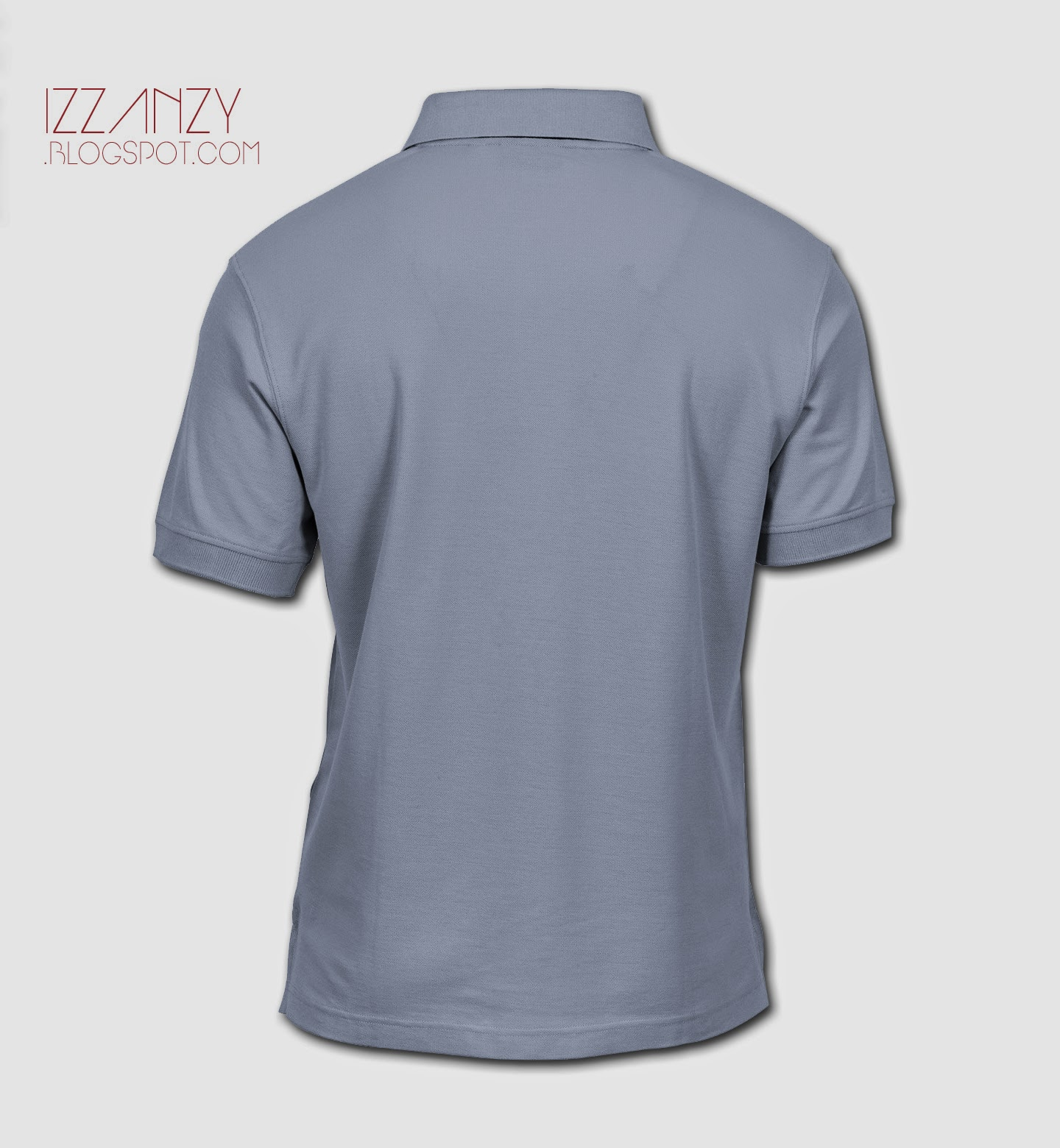 Download Download Template Polo Shirt  PSD  - Izzan Zy