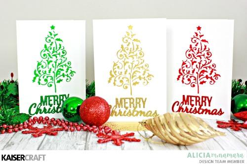 DIY Kaisercraft Christmas Card Tutorial by Alicia McNamara