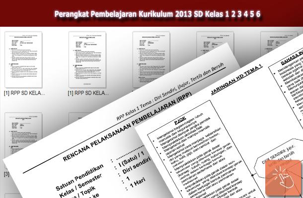 RPP dan Silabus Perangkat Pembelajaran Kurikulum 2013 SD Kelas 1 2 3 4 5 6