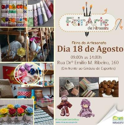 Miracatu terá feira do artesanato