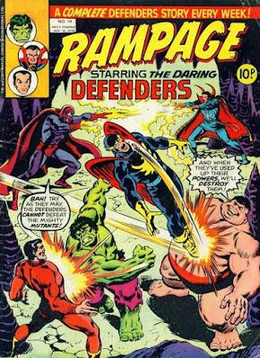 Rampage #14, Defenders vs the Brotherhood of Evil Mutants