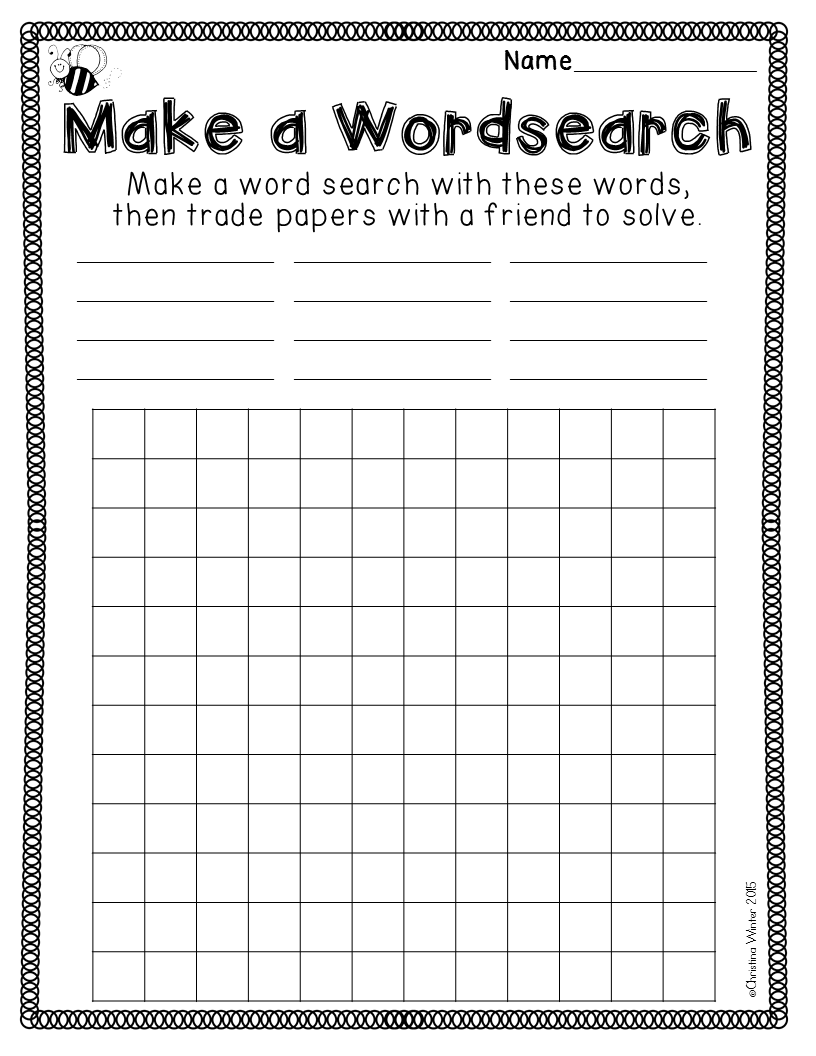 Spelling Worksheets and Printables