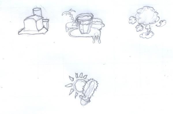 States of Matter Drawing Outlines
