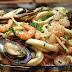 Receita de espaguete com frutos do mar