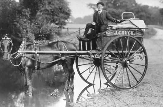 Photograph of Chuck's Baker cart c.1910