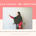 Gaya Casual Ibu Menyusui With Mooimom Navy Striped Long Sleeves Nursing Shirt