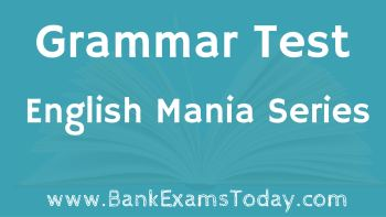 Englush Mania : Grammar Test