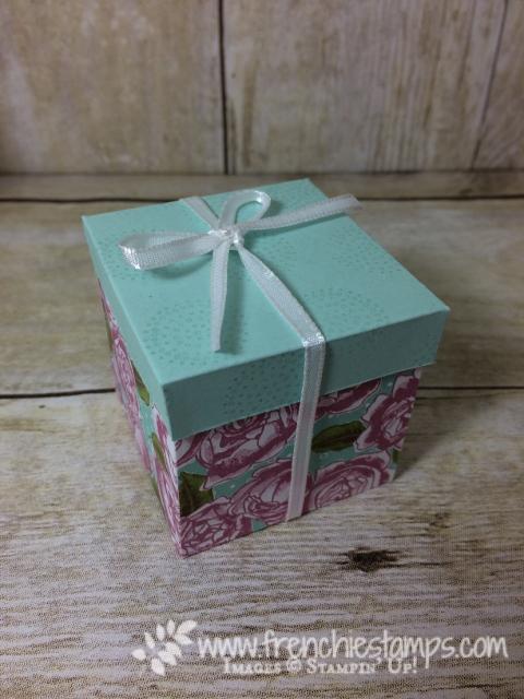 Gift Box, Petal Garden designer paper, Stampin'Up!
