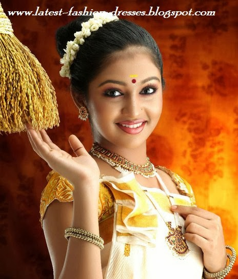 south Indian actress lakshmi menon in kerala saree style