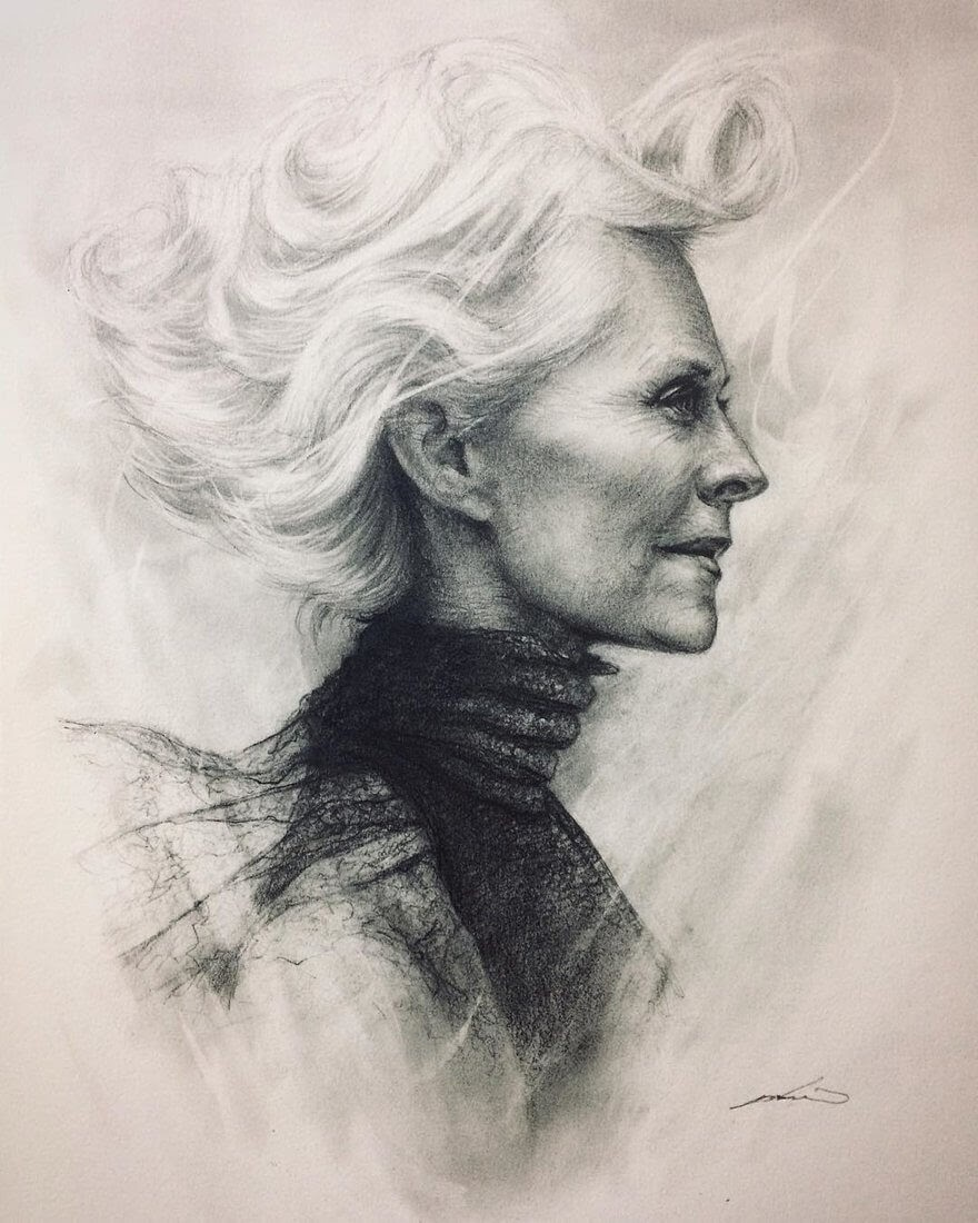 03-@laurent_darmon-Yoshi-Portrait-Drawings-of-People-on-Instagram-www-designstack-co