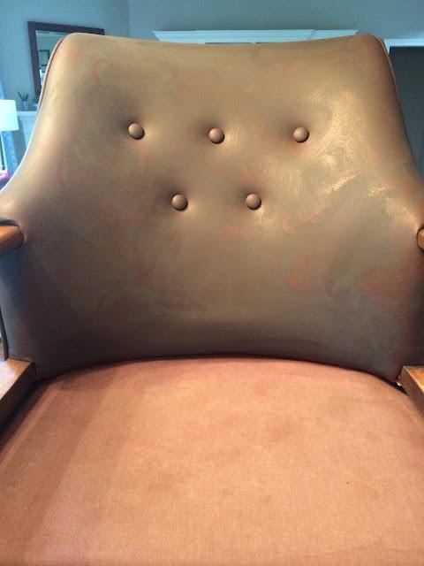 DIY, vintage chair, vinyl, 58 Water Street, painting vinyl, chalk paint