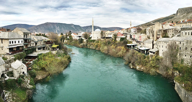 Neretva River in Mostar, Bosnia and Herzegovina