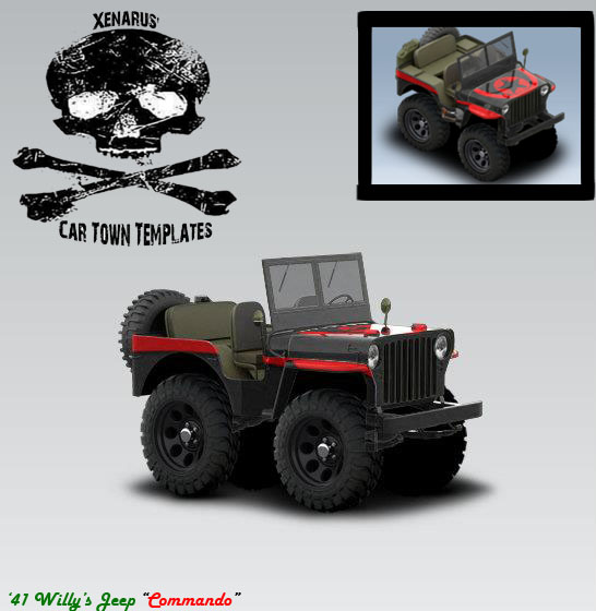 Jeep Willys MB 1941 - Commando - Cartown templates and ...