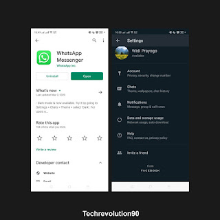 Whatsapp Messenger Dark Theme