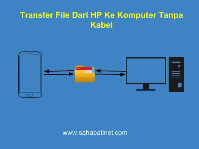 cara transfer file ke komputer tanpa kabel