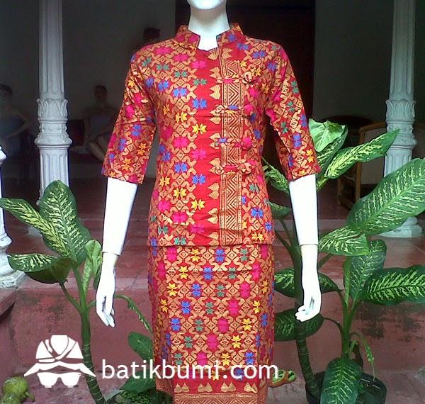 Setelan rok n blouse bali prada db 048 jual batik murah Baju gamis batik  bali 6150605152