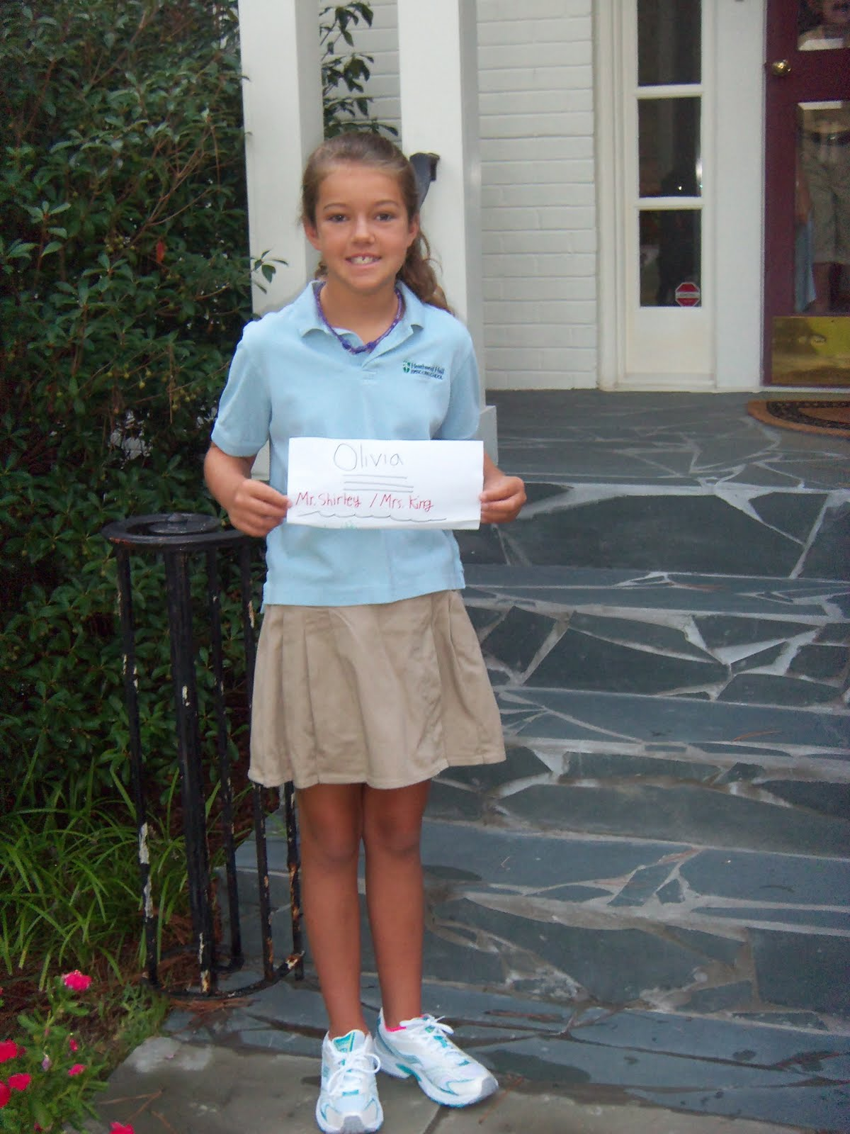 The Merritts In South Carolina Olivias 1St Day Of 4Th Grade-4289