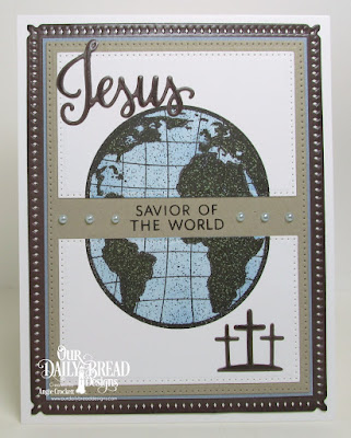 Our Daily Bread Designs Stamp/Die Duos: Jesus Loves You, The Earth, Our Daily Bread Designs Custom Dies: Snowflake Sky, Pierced Rectangles