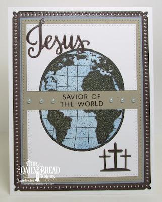 Our Daily Bread Designs Stamp/Die Duos: Jesus Loves You, The Earth, Our Daily Bread Designs Custom Dies: Snowflake Sky, Pierced Rectangles