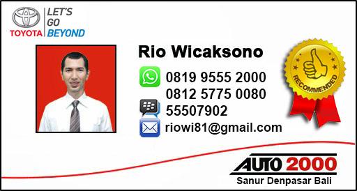 Rekomendasi Sales Toyota Sanur Denpasar Bali