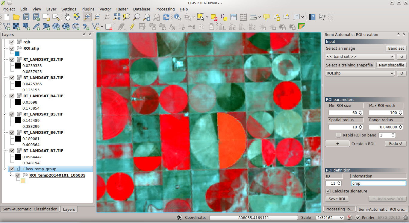Land Cover Classification of Cropland: a Tutorial Using the