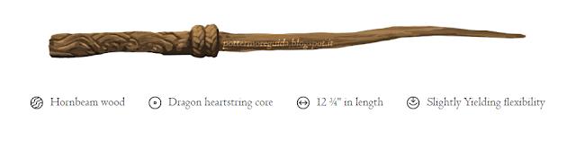 Carpino, Corda del cuore di drago, 12 pollici e 3/4, Leggermente flessibile