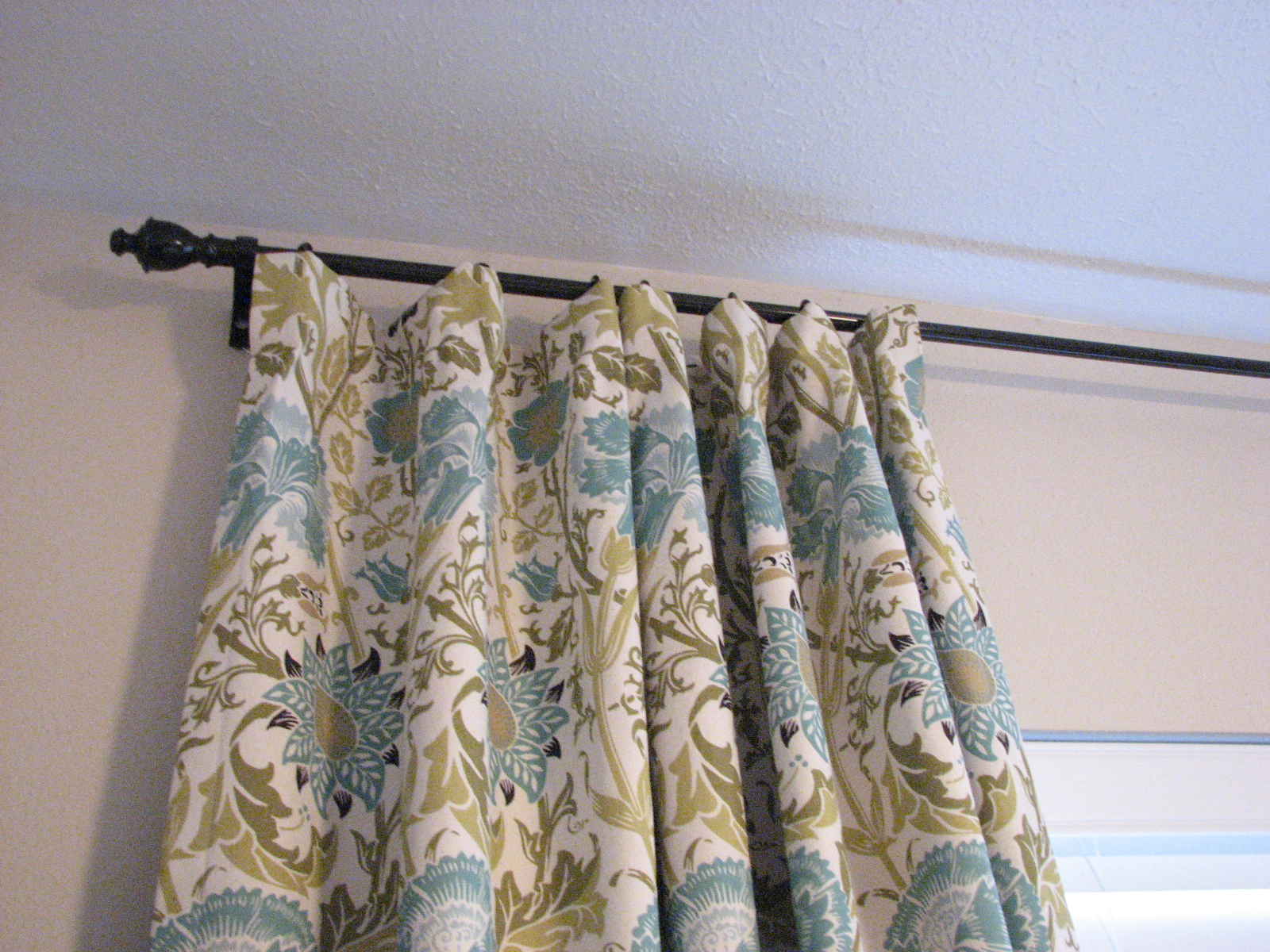 our nesting ground lined curtain panels and tie back tutorial. Black Bedroom Furniture Sets. Home Design Ideas