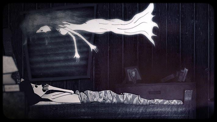 DEL AMOR A LA MUERTE, secuencia del episodio dedicado a Annabel Lee narrado por Patricia Sosa.