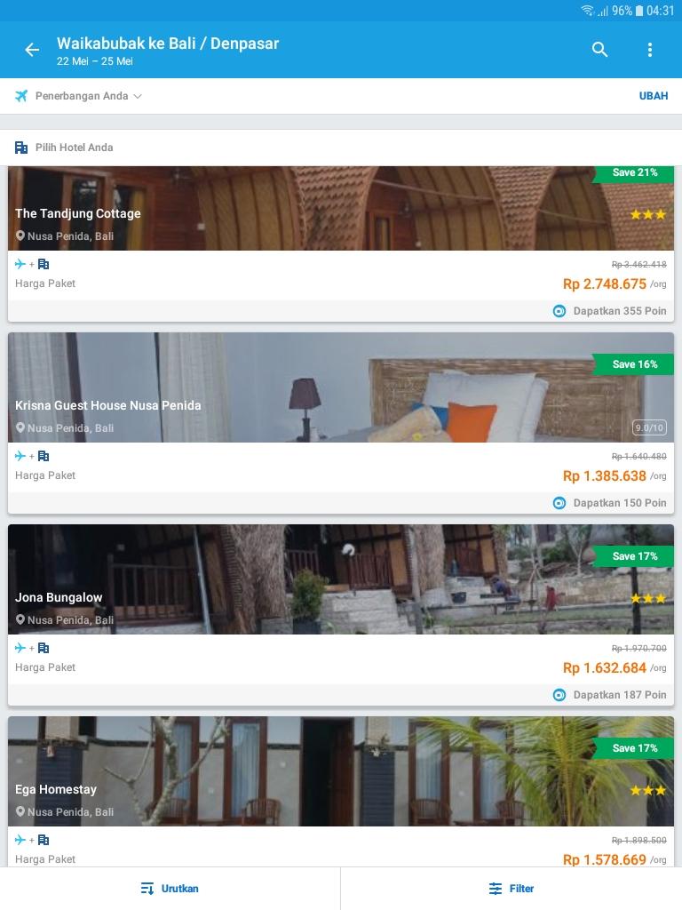 Pesawat + Hotel dari Traveloka