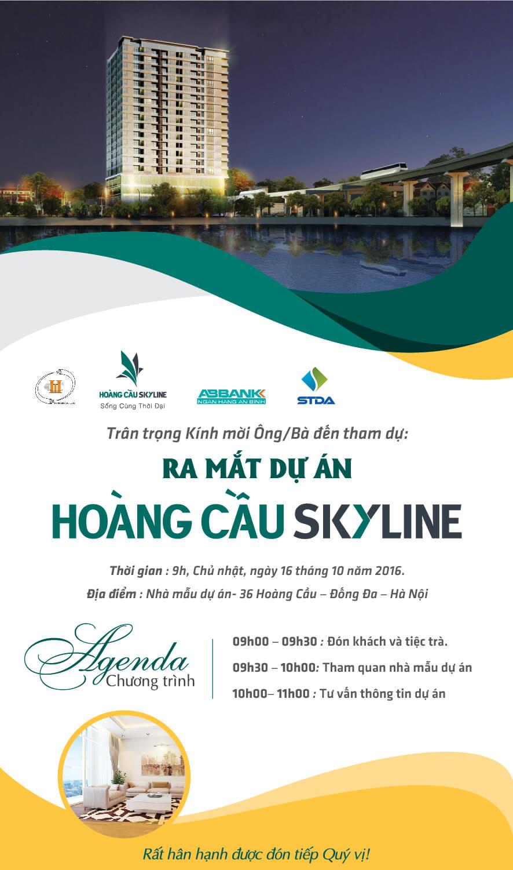 Chương trình mở bán dự án chung cư Hoàng Cầu Skyline