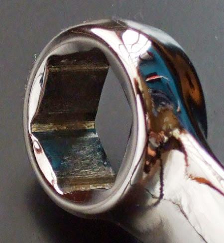 スナップオンOSH16Bコンビネーションレンチのメガネ部分