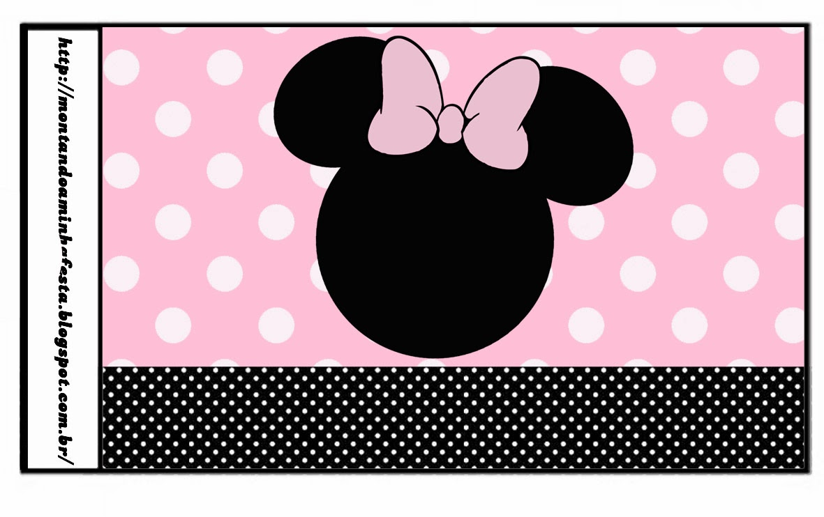 botellas personalizadas de mickey mouse minnie rosa ...